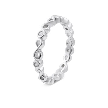 Argento Silver Infinity Band Ring  - Click to view larger image