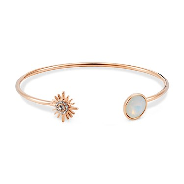 August Woods Rose Gold Opal Star Bangle  - Click to view larger image