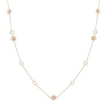 August Woods Rose Gold Opal Star Long Necklace  - Click to view larger image