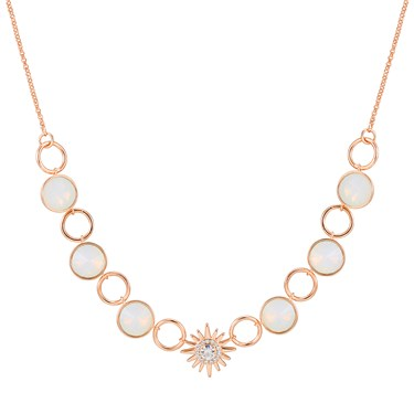 August Woods Rose Gold Opal Star Necklace  - Click to view larger image