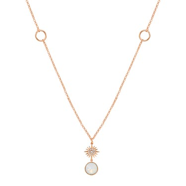 August Woods Rose Gold Opal Star Pendant Necklace  - Click to view larger image