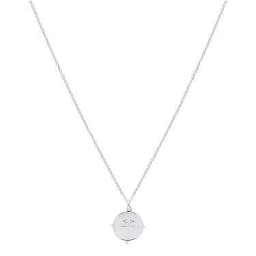 Argento Silver Compass Pendant Necklace  - Click to view larger image