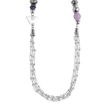 Karma Multi Chain Purple Necklace