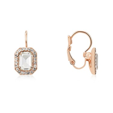 August Woods Rose Gold Crystal Drop Earrings  - Click to view larger image