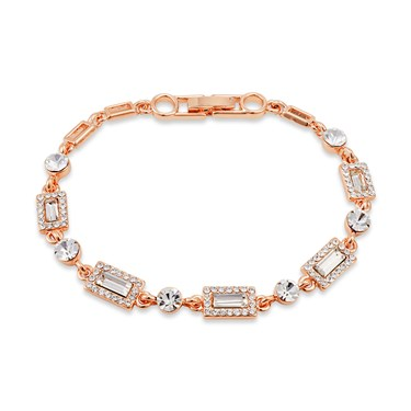 August Woods Rose Gold Crystal Bracelet  - Click to view larger image