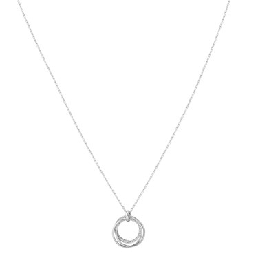 August Woods Silver Trio Knotted Sparkle Necklace  - Click to view larger image