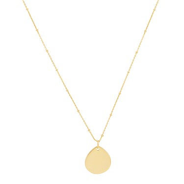 Argento Gold Pear Engraving Necklace  - Click to view larger image