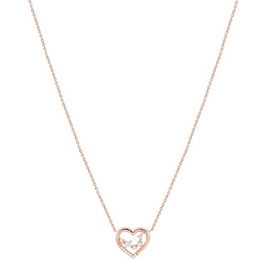 Argento Rose Gold Constellation Heart Necklace  - Click to view larger image