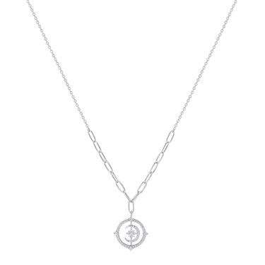 Argento Silver Moon Necklace  - Click to view larger image