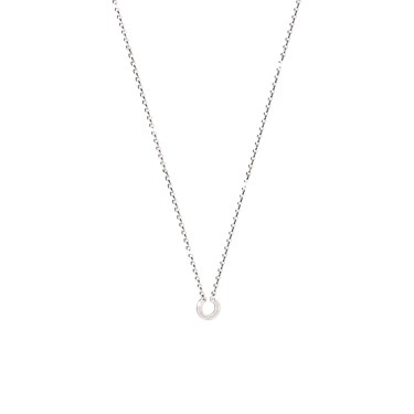 Rebecca My World Silver Carrier Necklace  - Click to view larger image