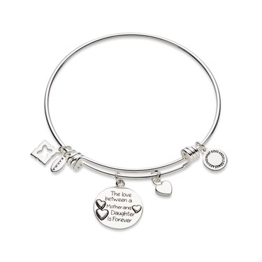 Karma Silver Mother & Daughter Bangle  - Click to view larger image