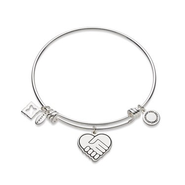 Karma Silver We Rise Bangle  - Click to view larger image