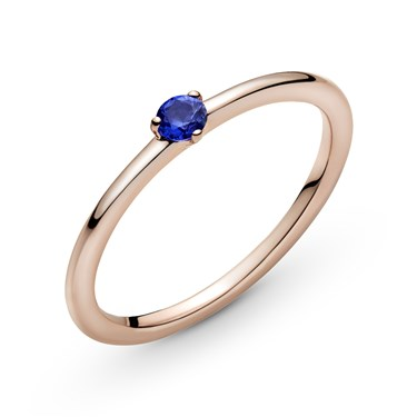 Pandora Stellar Blue Solitaire Ring  - Click to view larger image