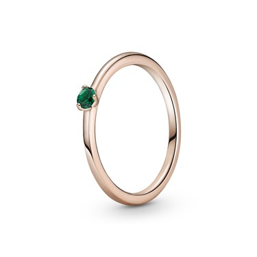 Pandora Green Solitaire Ring  - Click to view larger image