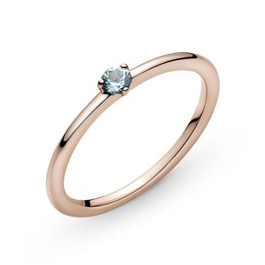 Pandora Light Blue Solitaire Ring  - Click to view larger image