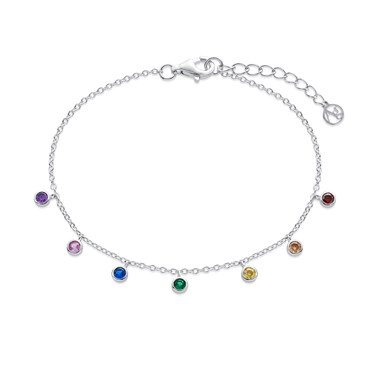 Argento Silver Rainbow Circle Bracelet   - Click to view larger image
