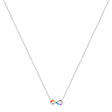 Argento Silver Rainbow Infinity Necklace  - Click to view larger image