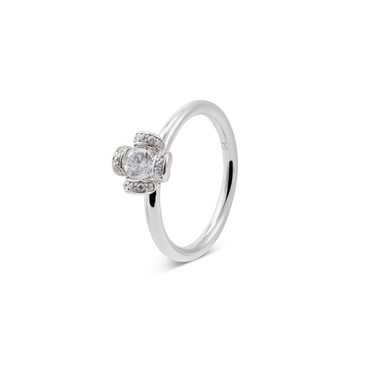 Argento Silver Sparkle Flower Ring   - Click to view larger image