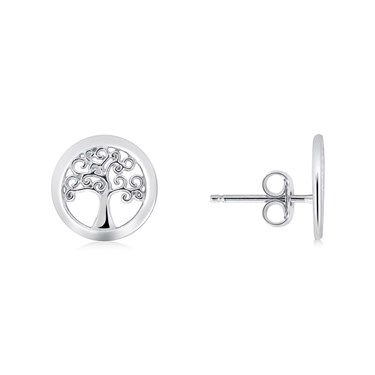 Argento Silver Tree Of Life Earrings   - Click to view larger image