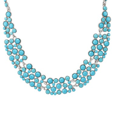 August Woods Aqua Sparkle Statement Necklace  - Click to view larger image