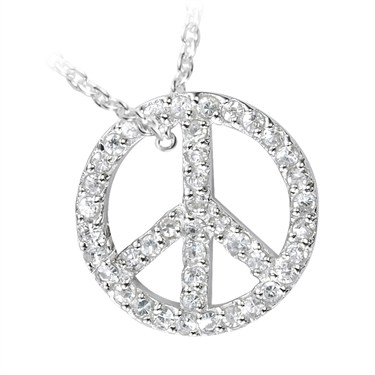 Argento Silver Peace Pendant Necklace