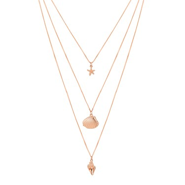 August Woods Rose Gold Layered Seaside Necklace 1