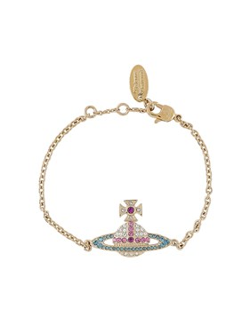 Vivienne Westwood Gold Candy Crystal Kika Bracelet   - Click to view larger image