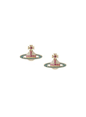 Vivienne Westwood Gold Candy Crystal Kika Earrings   - Click to view larger image