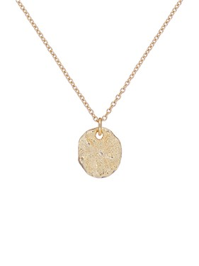 Ted Baker Gold Moonrock Pebble Necklace  - Click to view larger image