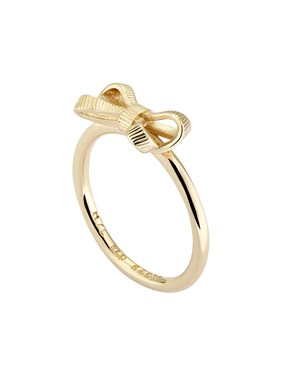 Ted Baker Gold Petite Bow Ring   1