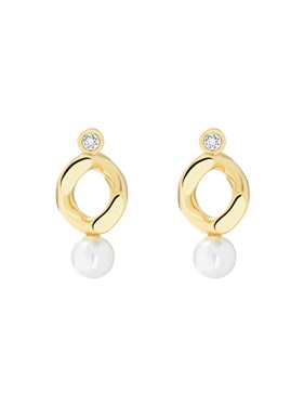 Ted Baker Gold Pearly Princess Earrings  1