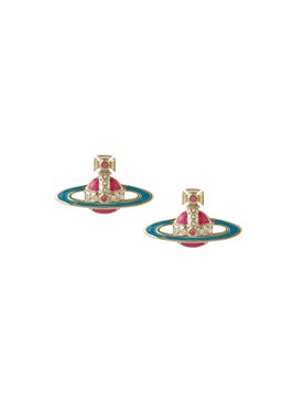 Vivienne Westwood Pink + Turquoise Small Neo Earrings 1