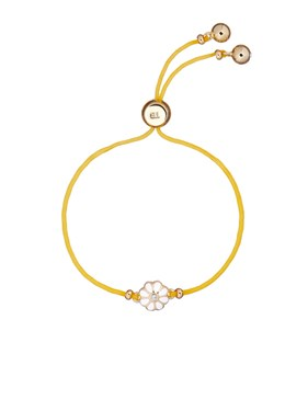 Ted Baker Yellow Daisy Fabric Pull Bracelet   - Click to view larger image