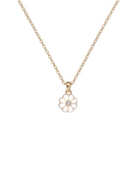 Ted Baker Gold + White Daisy Necklace  - Click to view larger image