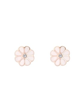 Ted Baker Rose Gold + Pink Daisy Earrings  - Click to view larger image