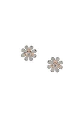 Vivienne Westwood Silver Crystal Florette Earrings   - Click to view larger image