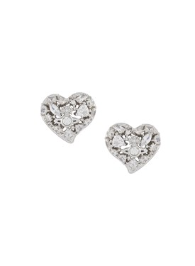 Vivienne Westwood Silver Hypolita Heart Earrings   - Click to view larger image
