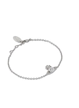 Vivienne Westwood Silver Crystal Ismene Bracelet   - Click to view larger image
