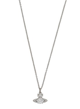 Vivienne Westwood Silver Crystal Ismene Necklace   - Click to view larger image