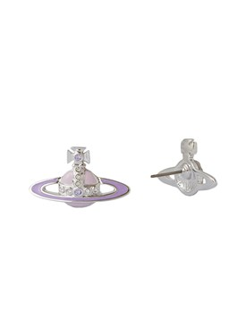 Vivienne Westwood Lavender Small Neo Earrings   - Click to view larger image