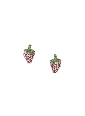 Vivienne Westwood Silver Strawberry Leonela Earrings  - Click to view larger image
