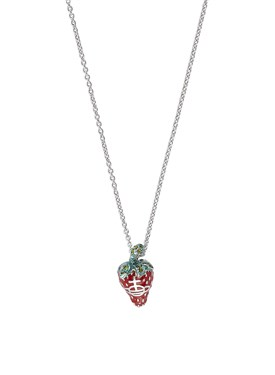Vivienne Westwood Silver Strawberry Leonela Necklace  - Click to view larger image