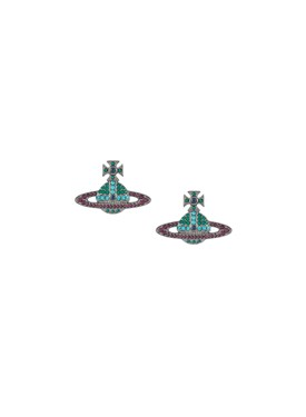 Vivienne Westwood Multicoloured Crystal Kika Earrings  - Click to view larger image
