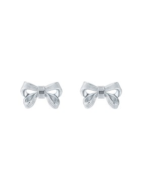 Ted Baker Silver Petite Bow Earrings  - Click to view larger image