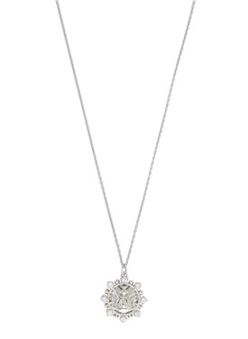 Vivienne Westwood Sterling Silver Gisela Crystal Necklace  - Click to view larger image