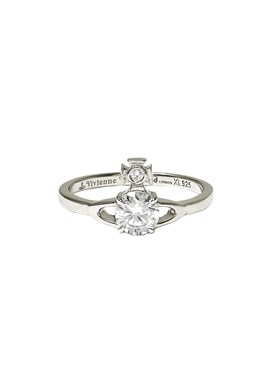 Vivienne Westwood Sterling Silver Reina Crystal Ring   - Click to view larger image