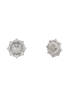 Vivienne Westwood Sterling Silver Gisela Crystal Earrings  - Click to view larger image