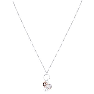 August Woods Silver Floral Trio Necklace  - Click to view larger image