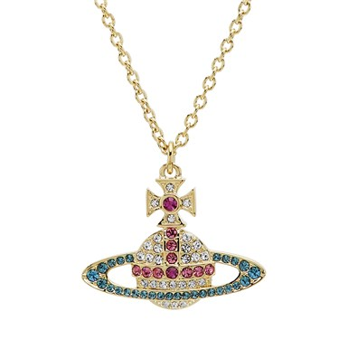 Vivienne Westwood Gold Candy Crystal Kika Necklace   - Click to view larger image