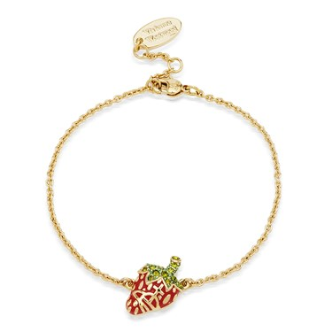 Vivienne Westwood Gold Strawberry Leonela Bracelet  - Click to view larger image